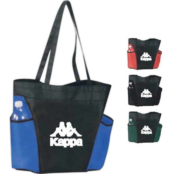 Cape - 90gsm Non-woven Polypropylene Shopping Tote. Two Large Side Pockets Photo