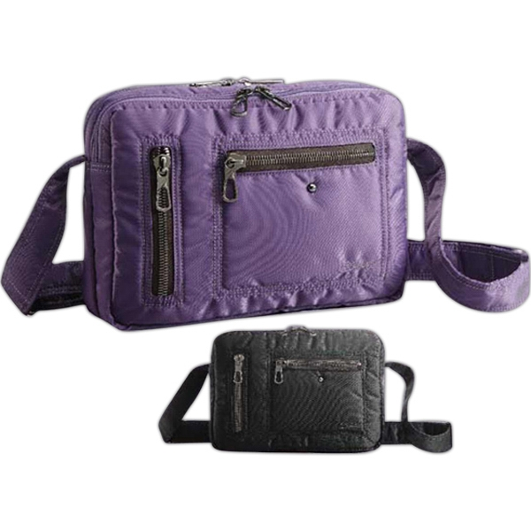 She Rules (tm) Freebird - Double Zip Shoulder Bag, Inside Pockets And 2 Exterior Pockets. Blank Photo