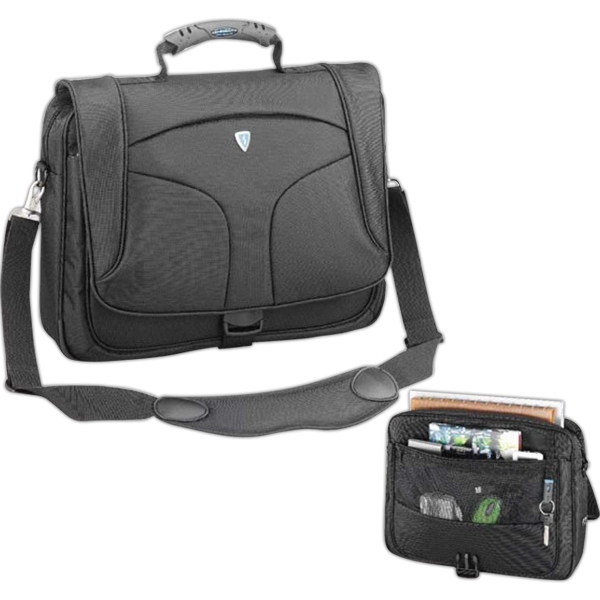 Mt-3 (tm) - A Messenger Business Brief Made Of Nylon Jacquard, Water Repellent Fabric, Blank Photo