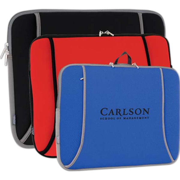 "15"" X 12"" X 1.25"" - Neoprene Computer Sleeve Fits Most 15.4"" To 17"" Notebook Photo"