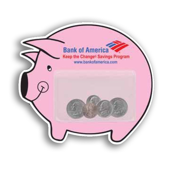 Magnetic Custom Piggy Bank Pad With Clear Vinyl Center Pocket Photo