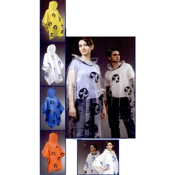 1 Color Imprint - The Original Lightweight Adult Rain Poncho, Durable And Reusable Photo