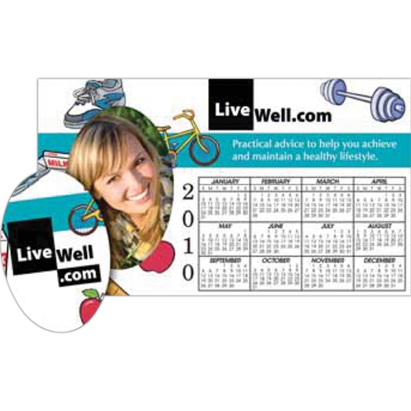 Picture Frame Calendar Magnet With Oval Punch Out Photo