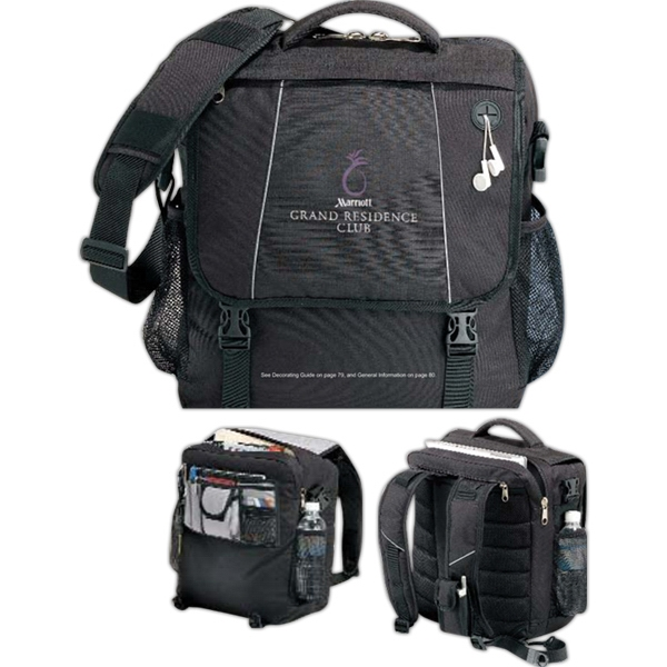 Cargo;compu-pack - Embroidery - Computer Case With Convertible Straps To Be Carried Like A Brief Or A Backpack Photo