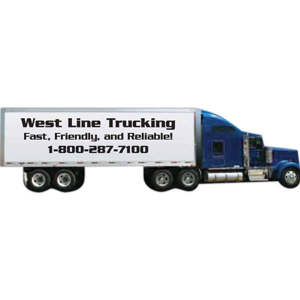 Tractor Trailer Shape, Stock Magnet Photo
