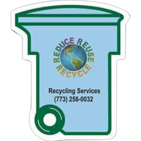 Trash/recycling Bin Shape Magnet On 10% Post Consumer Recycled Paper Photo