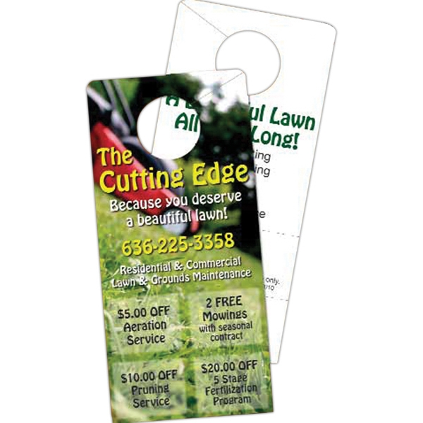 Laminated 12 Pt. Paper Coupon Door Hanger Photo