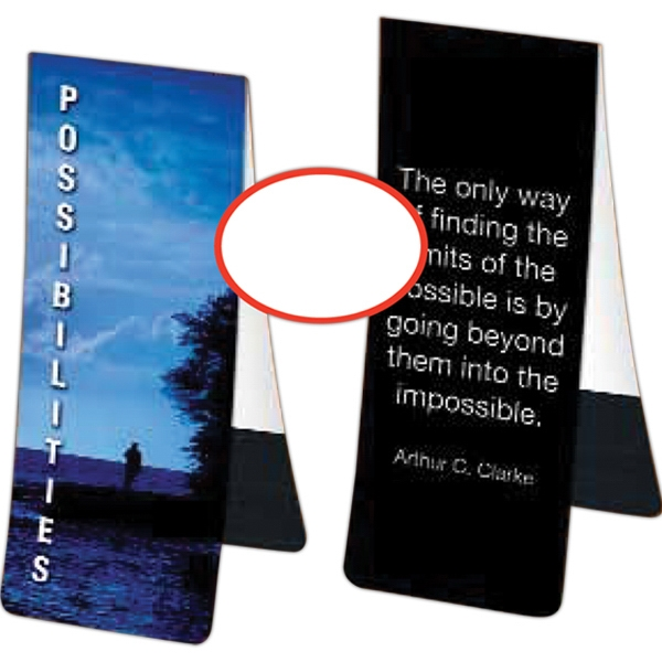 Bookmark In 10 Pt. Paper With Magnetic Back Photo