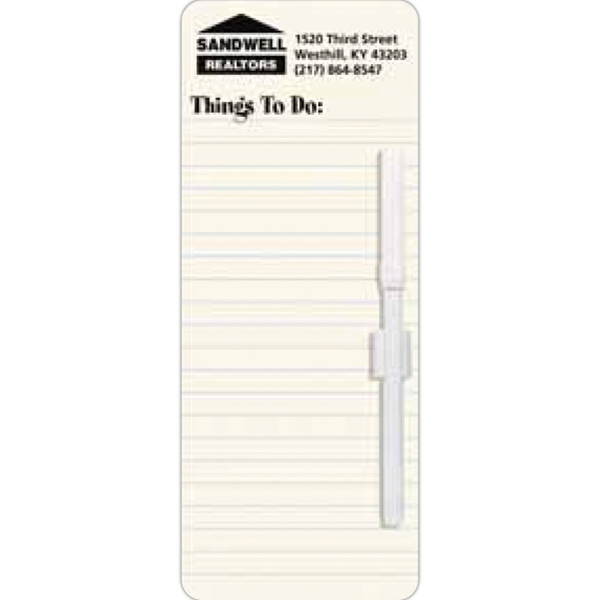 "Magnetic Stock Memo Board With ""things To Do"" Heading, Wet Erasable Pen And Clip Photo"