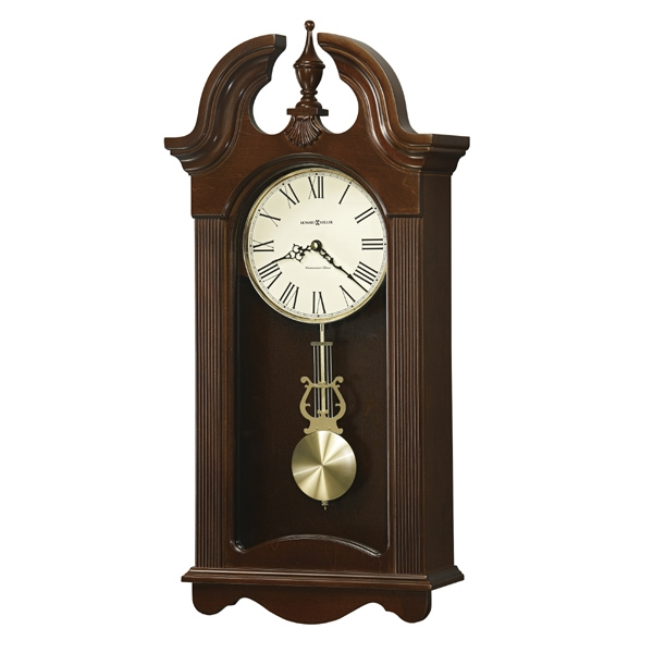 Malia - Cherry Bordeaux Clock With Single Chime Movement Plays Westminster, Blank Photo