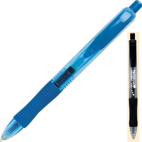 Retract-a-gel - Plunger-action Retractable Gel Ink Pen With Rubber Comfort Grip Photo
