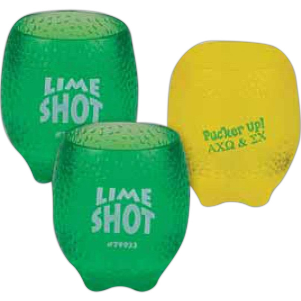 Lemon/lime Plastic Molded Shot Glass, 2 Oz Photo