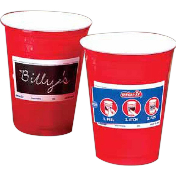 Etch-it (r) - Interactive Cup That Can Double As Name Tag Photo