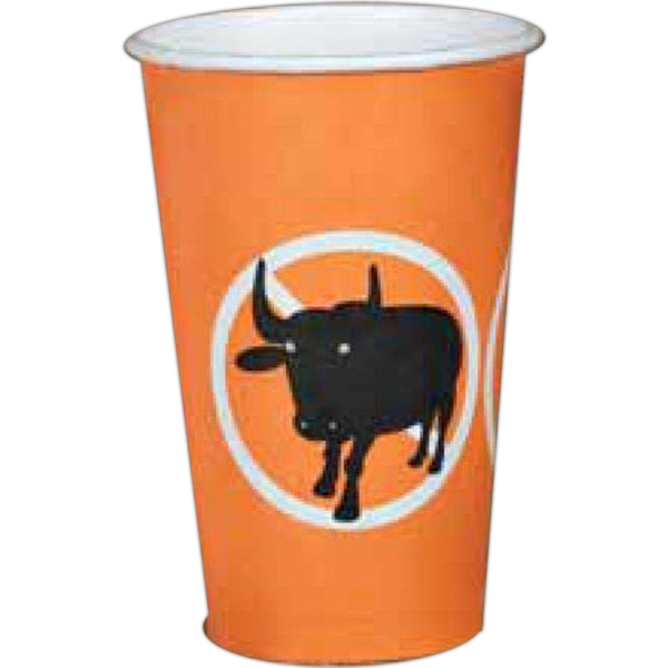 2 Color Imprint - 16 Oz - Full Wrap Color Paper Cup Photo