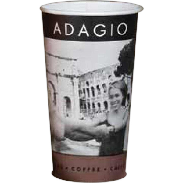 2 Color Imprint - 20 Oz - Full Wrap Color Paper Cup Photo