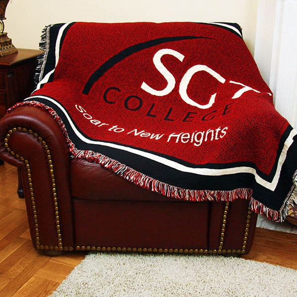Custom 40 4040Layer Throw Blanket Size L BNoticed Put A Logo On It Cool Custom Throw Blankets From Photo