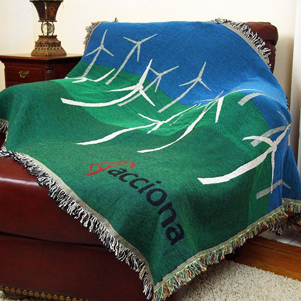 Custom Tapestry Throw Blanket Size XL BNoticed Put A Logo On It Classy Custom Throw Blankets From Photo