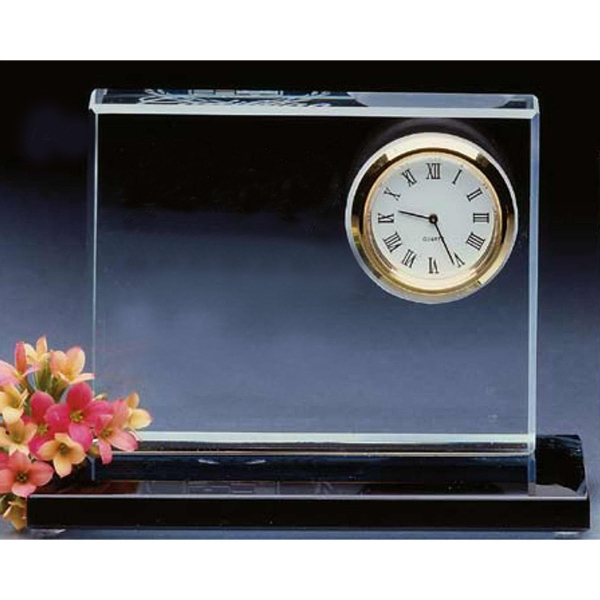 Crystal Clear Desktop Clock Photo