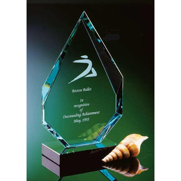 Angular Flame On Marble Award Photo