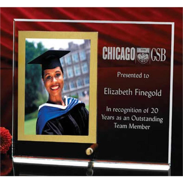 "Vertical Crystal Clear Photo Frame Holds 3"" X 5"" Photo, 7"" X 8"" Overall Size Photo"