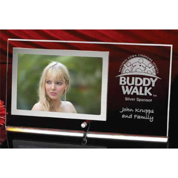 "Horizontal Crystal Clear Photo Frame Holds 4"" X 6"" Photo, 6"" X 11"" Overall Size Photo"