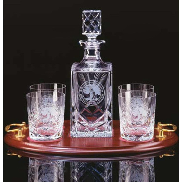 Westgate Crystal (tm);windsor - Five Piece Set Includes Decanter And Four Glasses Photo