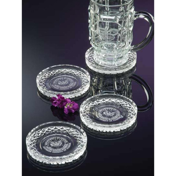 "Westgate Crystal (tm) - Cut Glass Coaster, 2"" X 2"" Photo"