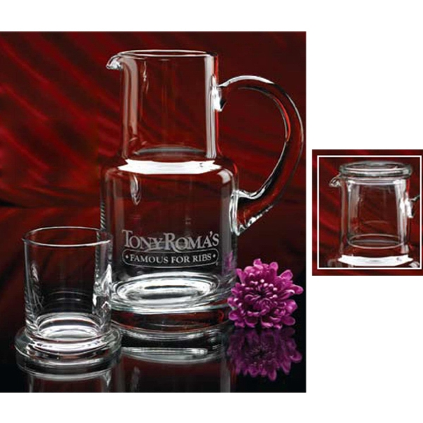 Hand Blown Executive Set Includes 28 Ounce Pitcher And 8 Oz. Tumbler Photo