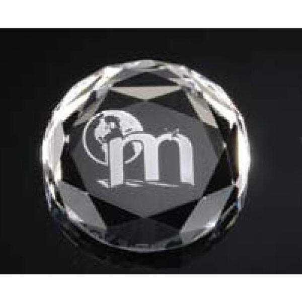 Optimaxx (c) - Round Faceted Paperweight Photo