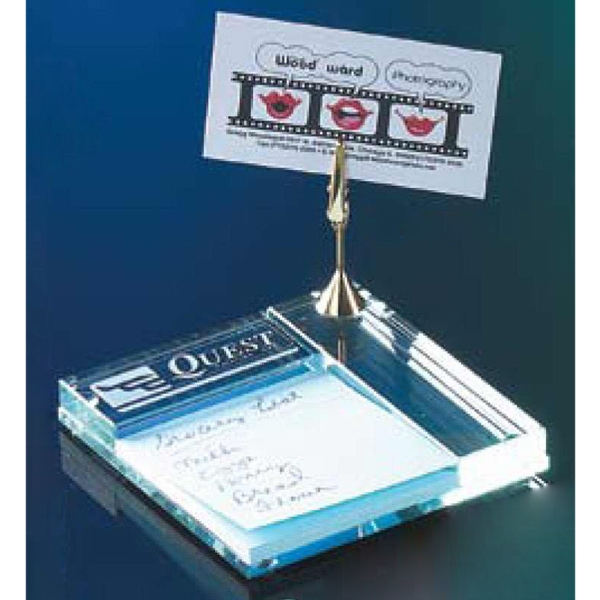 "Commander - Memo Holder With Note Clip And 3"" Square Pad Photo"