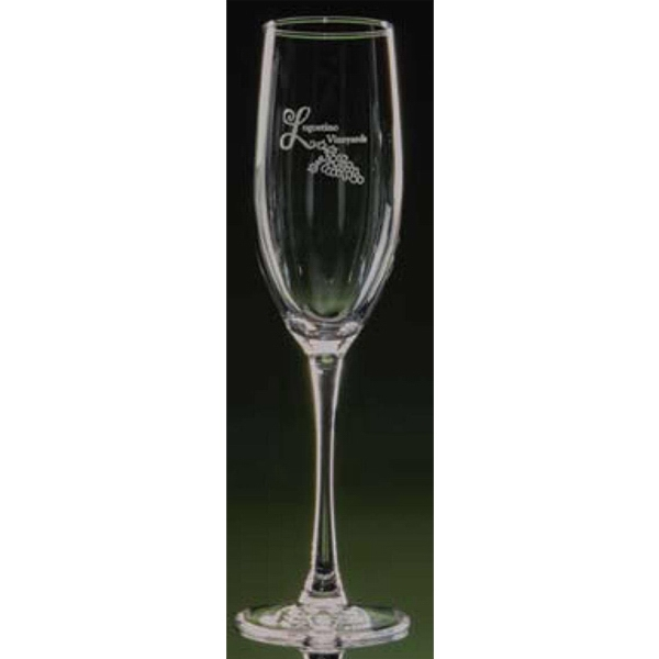 Afficionado - Wine Stemmed Flute Glass Photo