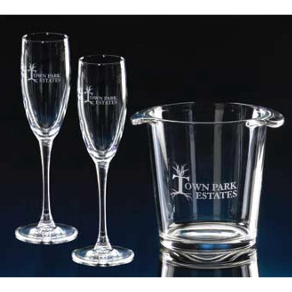 Salute - Three Piece Set Salute Ice Bucket And 2 Flutes Photo