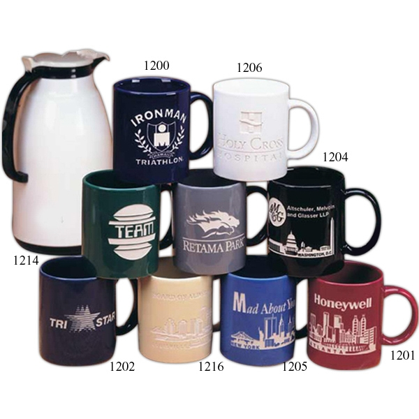 Skyline Landmark - Glossy Ceramic Mug, Holds 11 Ounces Photo