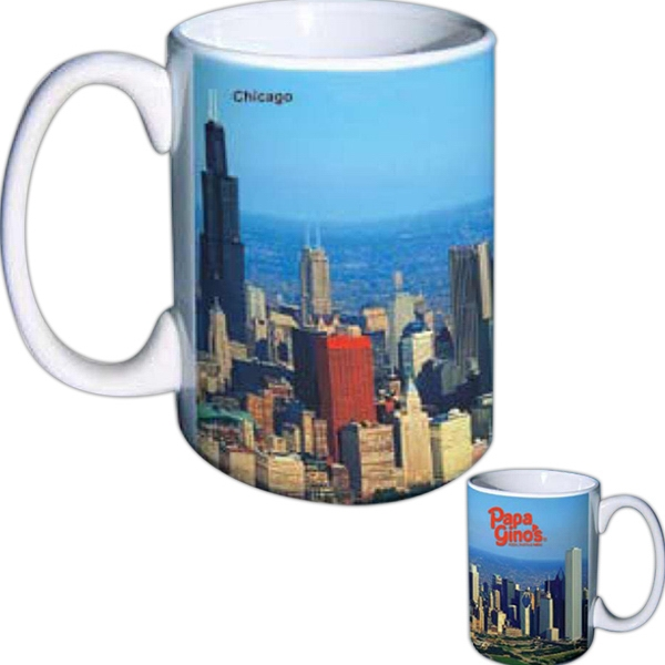 Full Color Mug With White Inside, Holds 15 Ounce Photo