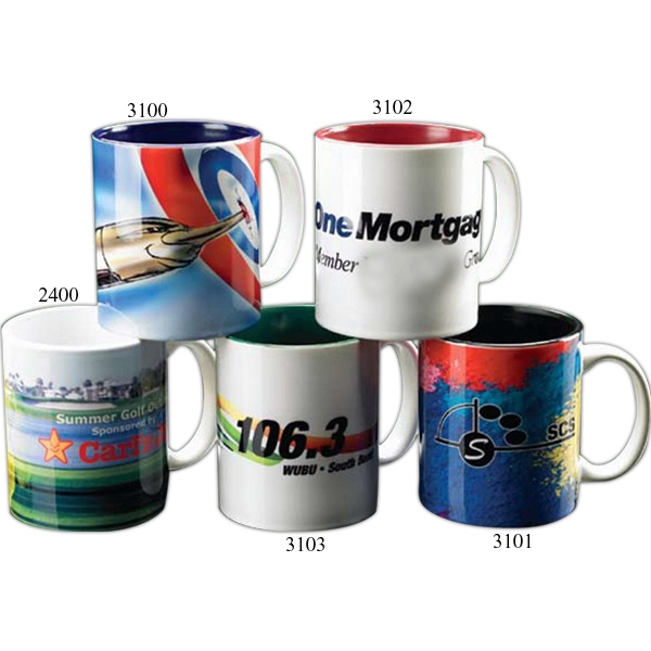 Green - Full Color Mug With Skyline Graphics, Holds 11 Ounce Photo