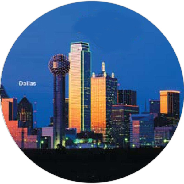 Skyline Originals - Round Mouse Pad With Skyline Graphic Photo