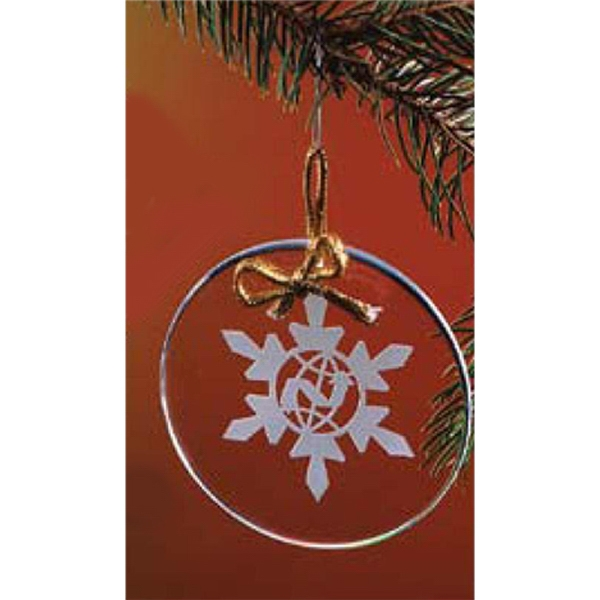 Clear Crystal Circle Shape Ornament Photo