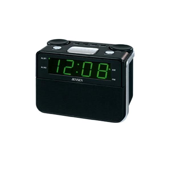 AM/FM Dual Alarm Auto Time Set Clock Radio