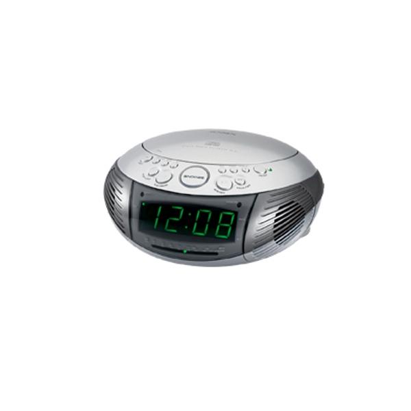 AM/FM Dual Alarm Clock Radio w/Top Loading CD Player