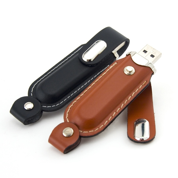 512mb - Leather Usb Drive 300 Global Saver Photo