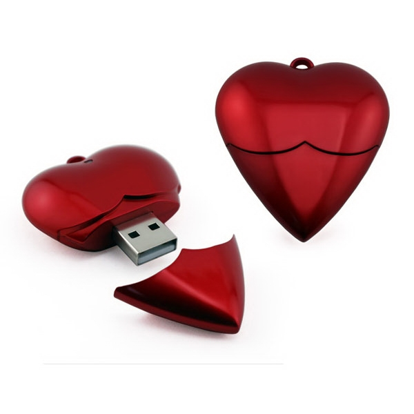256mb - Sp09r Heart Usb Drive Photo