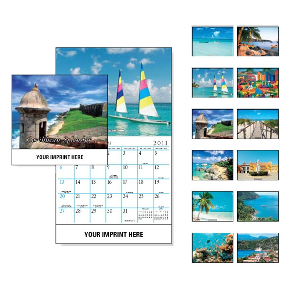 Caribbean Splendor - Wall Calendar With Beach Scenes Photo