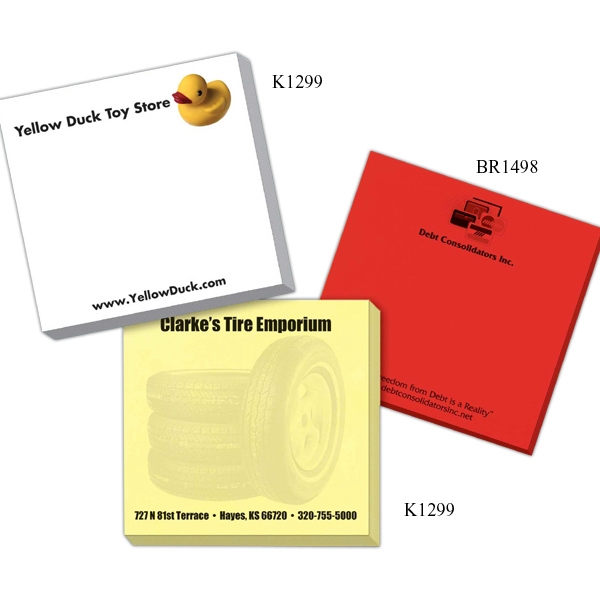 "Triple Spidertac (r) - Hyper Note 3"" X 3"" Adhesive Notes With Adhesive On 3"" Side, 25 Sheets Photo"