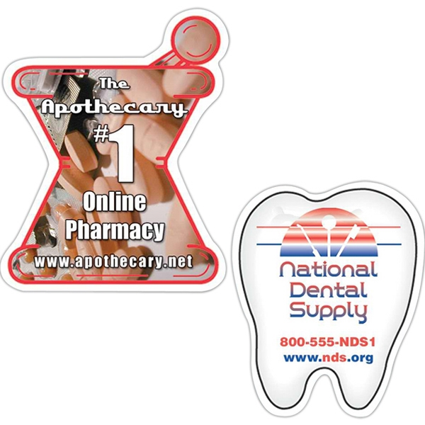 "Tooth - Medium, Die Cut Shape Magnet, 25 Mil. Thickness, Die Cut Out Of 3 3/4"" X 3 3/4"" Photo"