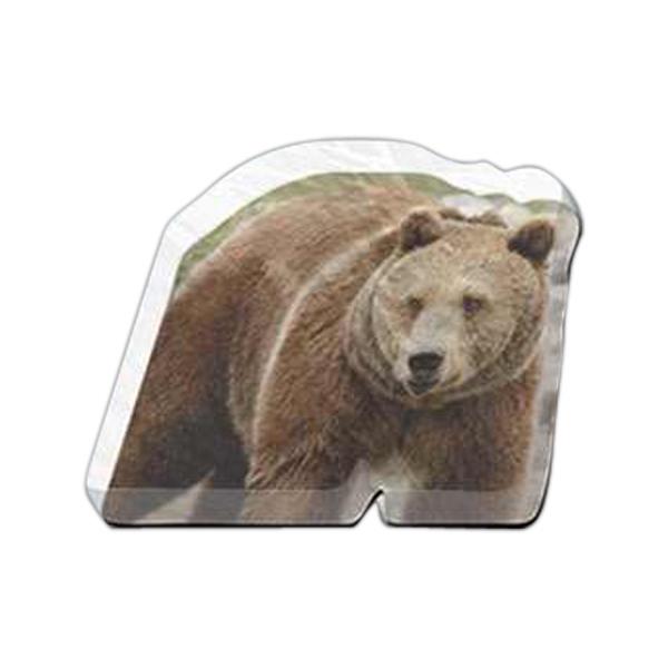 "Bear Shaped Magnet - Acrylic Die Cut Magnet, 1/4"" Thick, 10 Square Inches, Free Custom Die Photo"