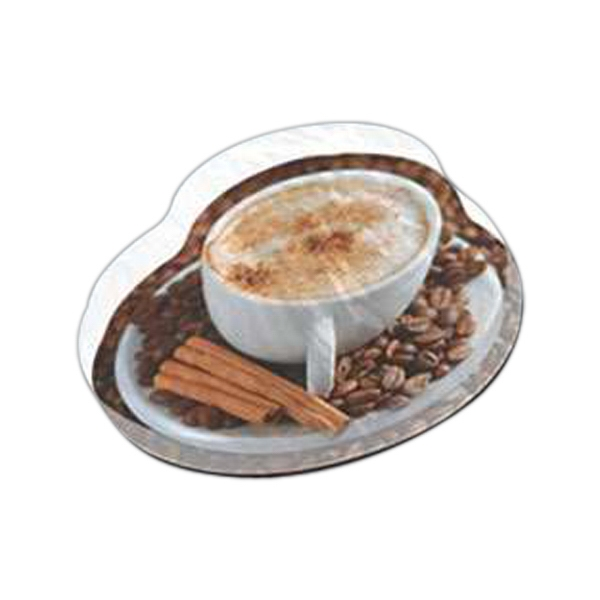 "Coffee Shaped Magnet - Acrylic Die Cut Magnet, 1/4"" Thick, 10 Square Inches, Free Custom Die Photo"