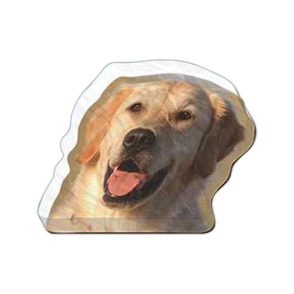 "Dog Shaped Magnet - Acrylic Die Cut Magnet, 1/4"" Thick, 11 Square Inches, Free Custom Die Photo"