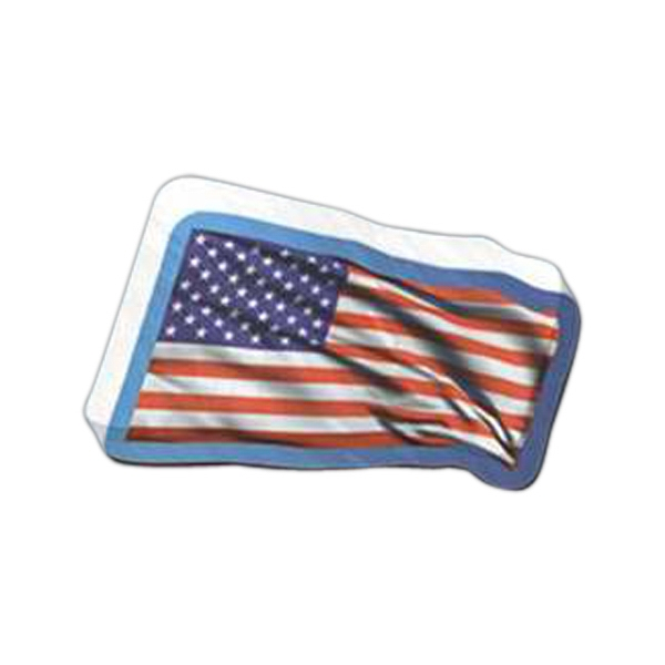 "Flag Shaped Magnet - Acrylic Die Cut Magnet, 1/4"" Thick, 10 Square Inches, Free Custom Die Photo"
