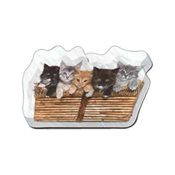 "Kittens Shaped Magnet - Acrylic Die Cut Magnet, 1/4"" Thick, 11 Square Inches, Free Custom Die Photo"
