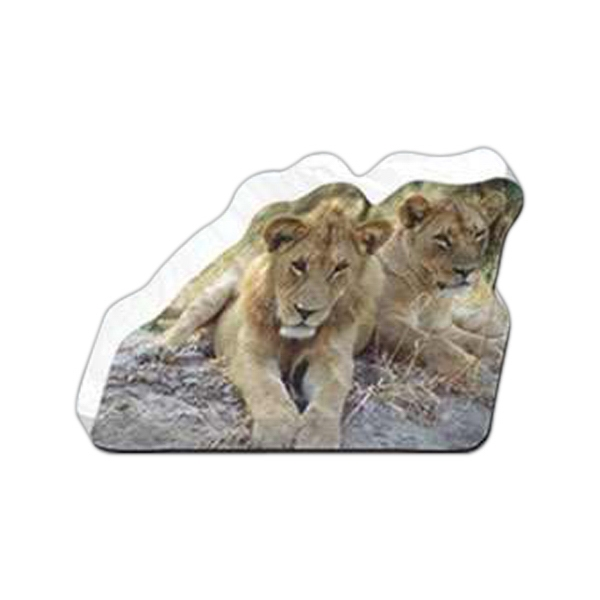 "Lions Shaped Magnet - Acrylic Die Cut Magnet, 1/4"" Thick, 10 Square Inches, Free Custom Die Photo"